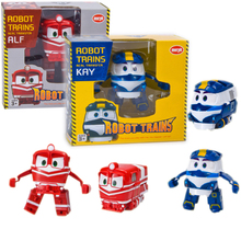 2 Colors Hot Sale Robot Trains Transformation Kay Alf Dynamic Train Family Deformation Train Robot Car Kids Gifts Toys #E