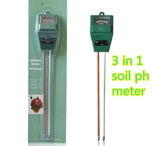 10pcs/lot 3 in 1 Flowers Soil PH Tester Illuminance humidity Analyzer Moisture Light Meter Plant Tool with 2 Probes(China)