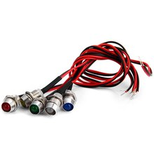 5Pcs/Set LED Indicator Pilot Dash Directional Light Lamp Bulb with Wire Leads for Car Truck Boat Portable Warning Lights Part(China)
