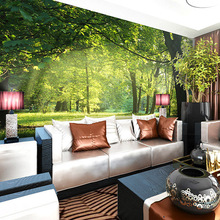 non woven pastoral natural landscape flowers living room bedroom sofa background wallpaper 3D stereo wallpaper