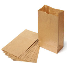 "20X Kraft Brown Paper Gift Bag Wedding Party Treat Brown Paper Bag 9.8""x4.9'' Gift Boxes & Bags(China)"