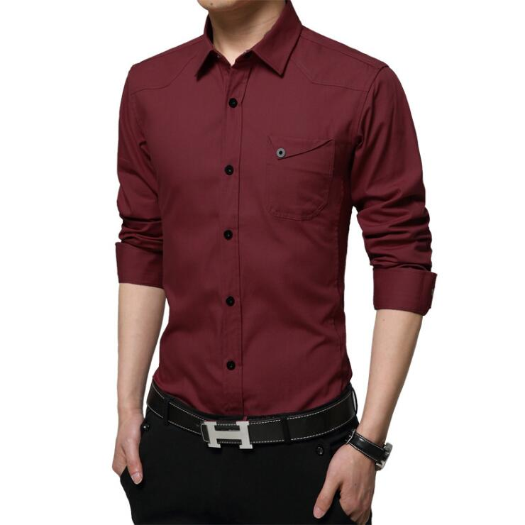 Famous Camisa Male Shirts Long Sleeve Men Shirt Fashion Casual Business Formal Shirt Chemise Homme Autumn Brand Clothing (13)