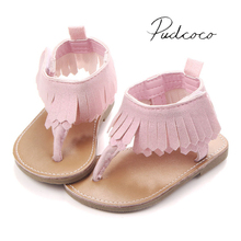 2017 Lovable Infant Baby Girls Summer Crib Walking Sandals Infant New Soft Shoes 0-18 Months(China)