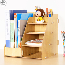 Staygold Desktop Storage Box Wooden Case Drawer Style Desk Storage Set(China)
