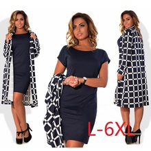 5XL 6XL Large Size 2017 Autumn Summer Dress Coats Big Size Fashion Casual Dress Coats Straight Jackets Plus Size Women Clothing