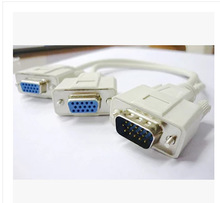 VGA one divides the display data line divides the line 1 male to 2 mother one male head divides two female heads(China)