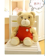 stuffed animal lovely ted bear plush toy 60 cm red apron teddy bear doll about 23 inch toy p1844(China)