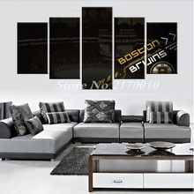 New Modern Home Artwork Poster Picture America Basketball Canvas Bosten Unframed Popular Team Members 5pieces Painting Bedroom