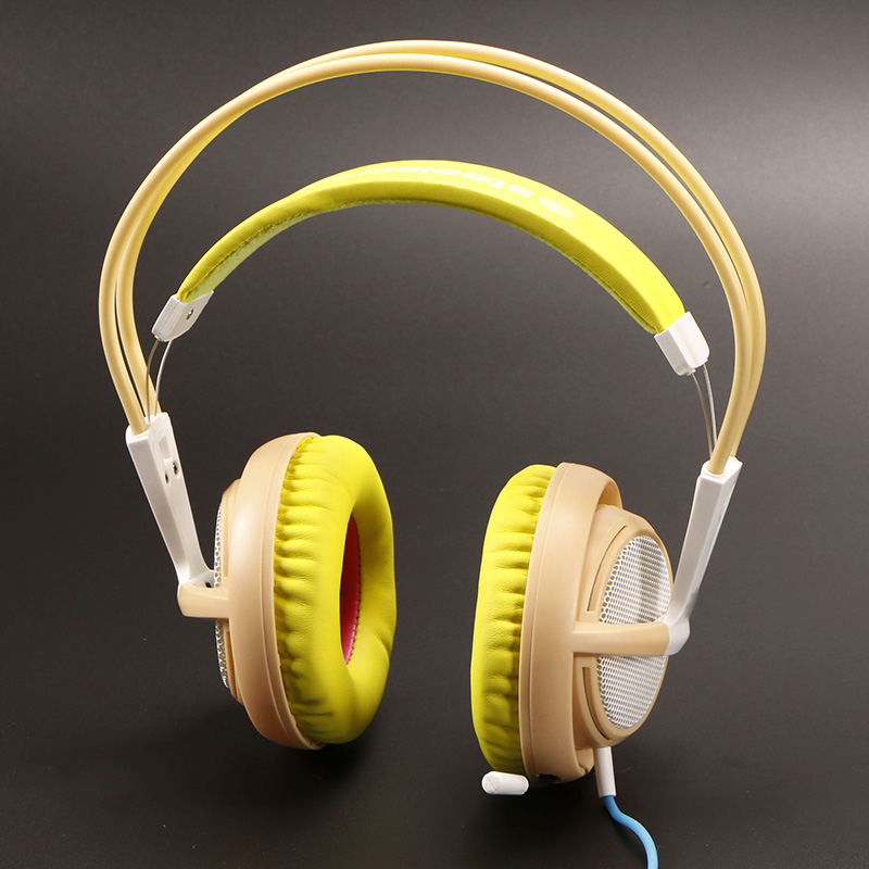 Steelseries Siberia V2 200 YELLOW Edition Gaming Headphone Noise Isolating Game Headphones Headset for Gamer<br>