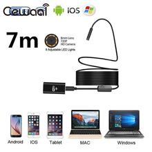 CEWAAL 8mm HD 720P 7M 8LED WiFi Endoscope Waterproof Video Camera For Android IOS Phone PC Wireless Inspection Endoscope Camera(China)