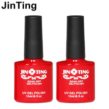 Fashion Top it off Coat  / Base gel Foundation Kit JingTing for UV Gel  Nail Polish Gorgeous Colors Best 10ml