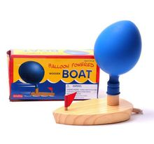Water wooden balloon ship classic retro toy Balloon powered ship useful Baby bath Toys Boat in The Bathroom Funny Game for kid