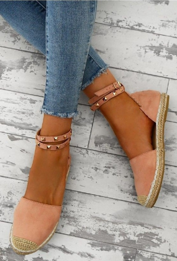 Women Sandals Fashion Peep Toe Summer Shoes Woman Faux Suede Flat Sandals Size 35-43 Casual Shoes Woman Sandals Zapatos Mujer (11)