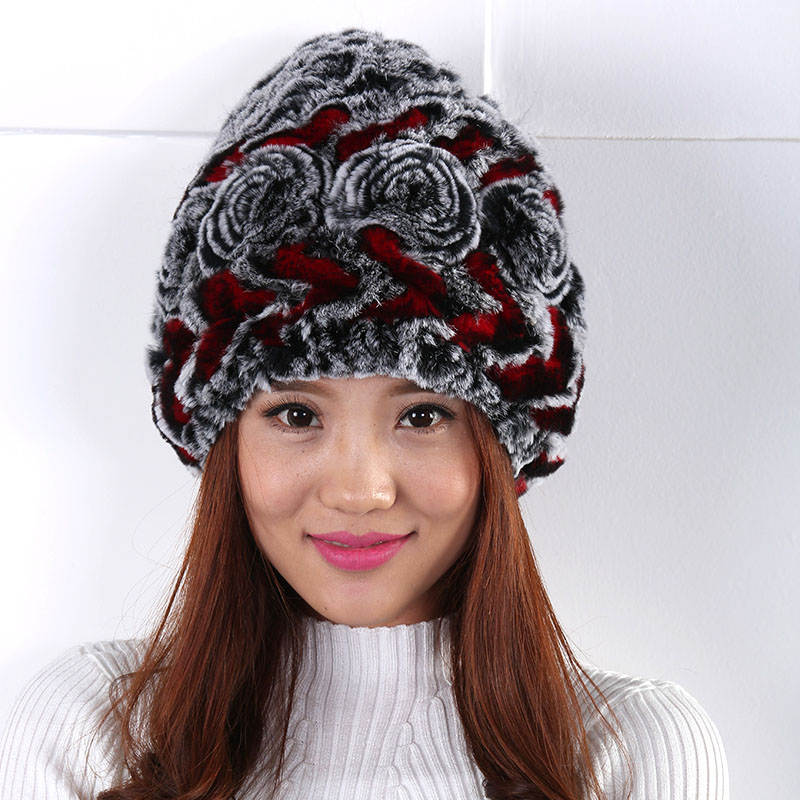 New Women hat  Simple autumn and winter outdoor Generous fashion warm Rose decoration fleece hat ski cap warm winter hat capОдежда и ак�е��уары<br><br><br>Aliexpress