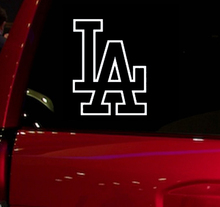 Dodgers baseball game Auto Window Sticker Decal for Car Truck Suv Decal 5.5'' Car Window Vinyl Die Cut Sticker White