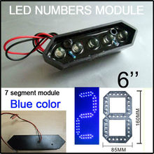 2016 Blue Limited 6inch Led Digita Numbers Module,blue Color Led Gas Price ,led Signs,led Billboard, Temperature Display,parts