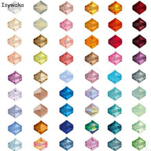 Isywaka U Choice 200pcs 4mm Bicone Austria Crystal Beads charm Glass Beads Loose Spacer Bead for DIY Jewelry Making