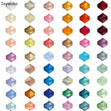 Isywaka U Choice 100pcs 4mm Bicone Austria Crystal Beads charm Glass Beads Loose Spacer Bead for DIY Jewelry Making(China)
