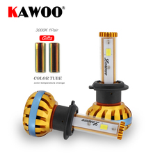 KAWOO H7 Car LED Headlights 72W 8000lm Automobile Bulb Headlamp DIY Change Color Temperature 6000K 3000K 8000K Fog Light 12V(China)