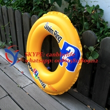 Deluxe Intex 51cm School Step 2 kiddie children swimming ring durable pvc inflatable swimming ring for kids baby(China)