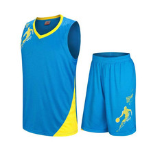 2017 Newest Kids Basketball Jersey Student sports Uniform Men Team match Suit Shirt and Short Customizable Name DIY printing(China)