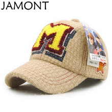 JAMONT Thick Warm Kids Knitted Winter Baseball Cap Hip Hop Children Snapback Brand Cap Fashion Hockey Cap Boy Girl Golf Gorras