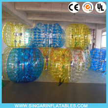 Free shipping 0.8mm PVC 1.2m diameter bubble foot,bumper ball,bounce back football for kids