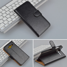 Crazy Horse Flip Leather Case For lenovo A916 Cover With Stand And Card Holder 4 Colors