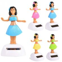 Fashion Solar Powered Dancing Hula Girl Swinging Bobble For Car Decoration Toy Gift