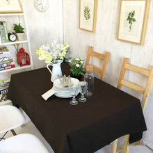 Retro Vintage Table Tablecloth multifunctional design dustproof fashion zakka dining dirt-proof deep brown purity European XM