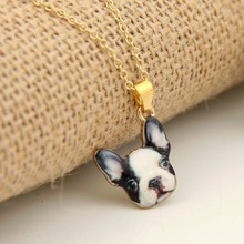 Shuangshuo New Fashion Vintage Animal French Bulldog Necklaces for Women Cute Gold Puppy Dog Necklace Retro Party Jewelry 2016(China)