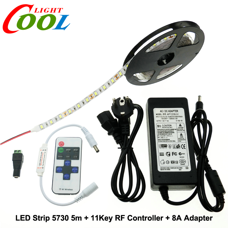 LED Strip 5730 5m + RF 11Key Controller + DC12V 8A Adapter Flexible LED Light Sets.<br><br>Aliexpress