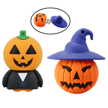 100% real capacity Halloween Pumpkin beast USB 4GB 8GB 16GB 32GB 64GB Flash Memory Stick Pen Drive Disk for Hallowmas gift
