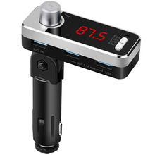 New Original BC11B Aluminum shape Current Voltage Detector With FM Transmitter BT Handsfree Bluetooth Car Kit Dual USB Charger