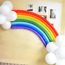 1Pack Magic Balloons Children parties decorate the magic long balloon rainbow balloons Packages party decoration 5Z