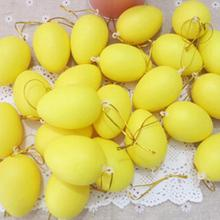 42x60mm Mixed Color Kids Children Easter Party Decorative DIY Painting Egg Gifts Easter Plastic Hanging Egg Ornaments 12pcs/set