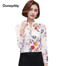 Blouse Women Tops Cheap Clothes China Chinese Style Long Sleeve Fall Fashion Woman Print Shirt Ladies Top Floral Blouses XXXL(China)