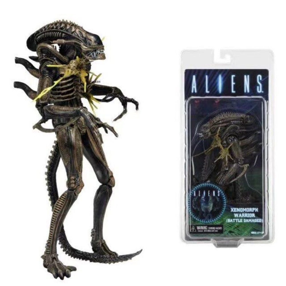 Neca Aliens Brown Xenomorph Warrior (Battle Damaged) 9 Action Figure Series 12 Free Shipping<br>