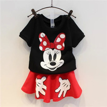New brand girls cartoon clothing set for girls summer clothes kids and children lovely garment wholesale and retail