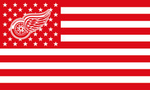 Detroit Red Wings USA Premium Wordmark Hockey Flag 3X5FT Detroit Red Wings With Star and Stripe Team Flag NHL Flags