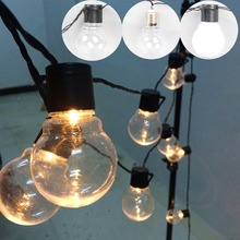 outdoor led Christmas Lights fairy light LED Globe Connectable Festoon Ball led fairy string light party wedding garden garland