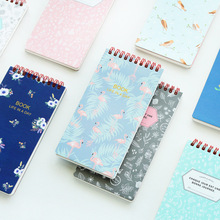 Mini fresh coil notebook Vintage flower and animal book Memo pad Diary note Stationery sketchbook office School supplies 6652(China)