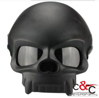 free shipping C&amp;C helmet  skull capacete motorcycle Half face SKULL helmets mask skullm&amp;m skull half face mask helmets<br><br>Aliexpress