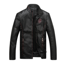 Bolubao New Men Leather Jacket Fashion Autumn Motorcycle PU Leather Male Winter Jackets Outerwear Coats Faux Leather Coat
