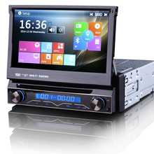 "7"" Touch Screen 1 Din Car DVD Single Din Car Radio One Din Car GPS Car Recorder Input & Motorized Screen Detachable Front Panel"