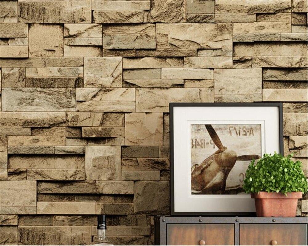 Beibehang 3D Wallpaper Retro Stone Stones  Brick Masonry Personality Restaurant Wallpaper Home Decor wallpaper for walls 3 d<br>