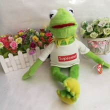 37cm Ty Toy Kermit the Frog Plush Toy The Muppet Show Sesame Street Character With Clothes &Steel Wire Can Make Pose(China)
