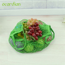 Mesh Net Turtle Bag String Shopping Bag Reusable Fruit Storage Handbag Totes storage bag U70705