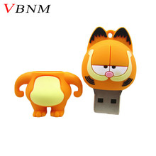 VBNM lovely Pen Drive Garfield cat 4GB 8GB 16GB 32GB Usb Flash Drive memory stick Pendrive Pendriver mini gift free shipping(China)