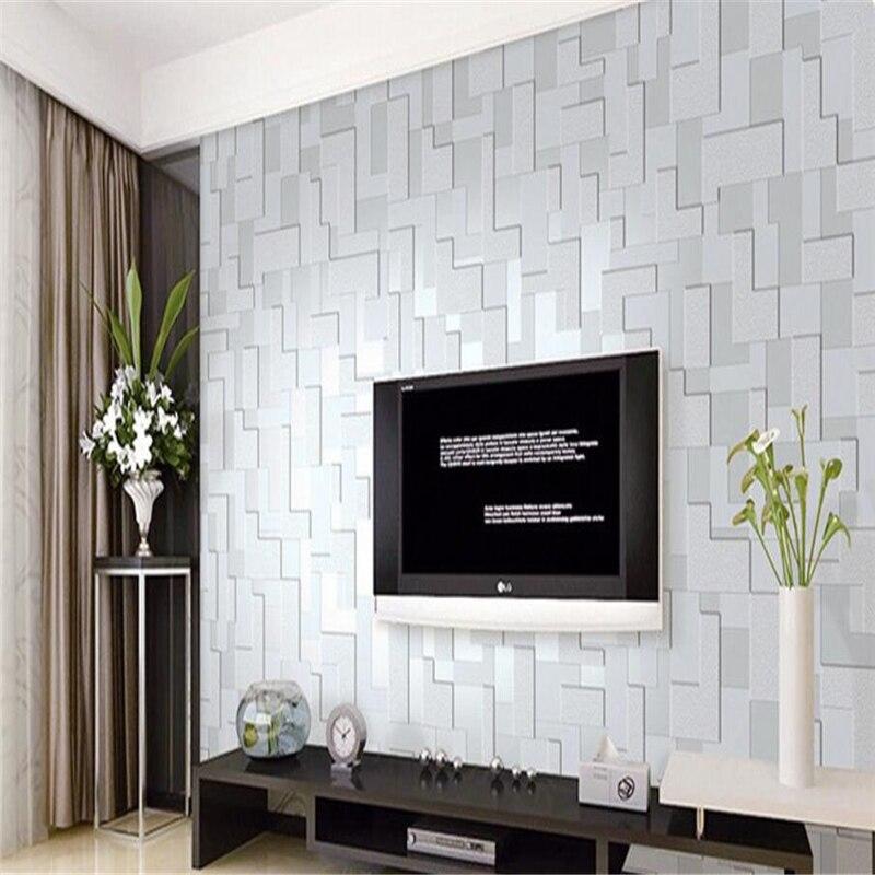 beibehang  Modern Wallpaper Stereo Living Room TV Wall Non wovensr Mosaic papel de parede 3d para sala atacado papier peint <br>